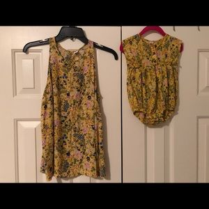 Mommy and me set size small and 6-12 months